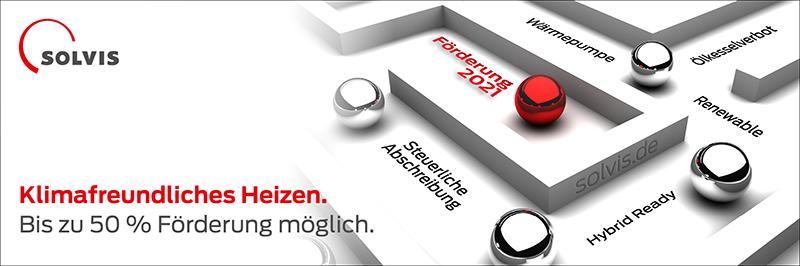 Jetzt über Fördermöglichkeiten zu Solvis Heizsystemen informieren. förderung2021.de